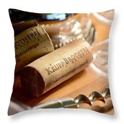 Krupp Brothers Uncorked Throw Pillow