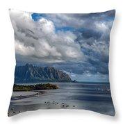 Kualoa Morning Show Throw Pillow