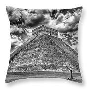Kukulcan Pyramid V2 Throw Pillow
