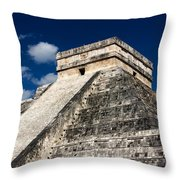 Kukulkan Pyramid At Chichen Itza Throw Pillow