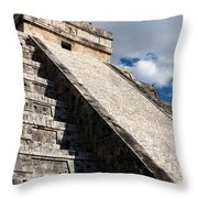 Kukulkan Pyramid Shadows Throw Pillow