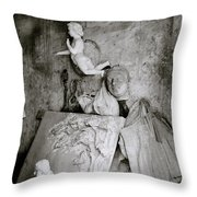 Kumartuli Angel Throw Pillow