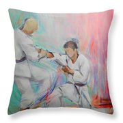 Kumite Throw Pillow