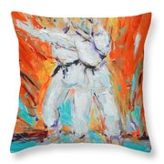 Kumite Ni Throw Pillow