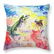 Kung Fu Fight Throw Pillow