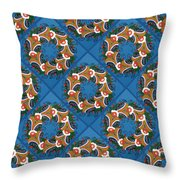 Kurbits Wreaths Blue Throw Pillow