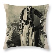 Kurdish Tribal Leader Throw Pillow