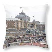 Kurhaus Scheveningen Netherlands Throw Pillow