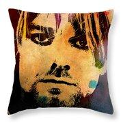 Kurt Cobain 3 Throw Pillow
