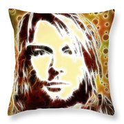 Kurt Cobain Digital Painting Throw Pillow