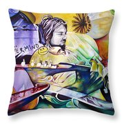 Kurt Cobain- It Aint Medicine Kurt Throw Pillow