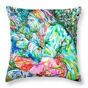 Kurt Cobain Portrait.10 Throw Pillow