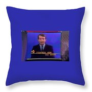 Kvoa Tv Anchorman Interviewer Writer Photographer Dick Mayers Screen Capture Collage Circa 1965-2011 Throw Pillow