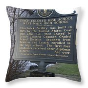 Ky-2109 Lynch Colored High School West Main High School Throw Pillow