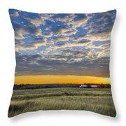 Kyle Barn Sunrise Throw Pillow