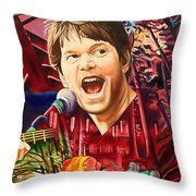 Kyle Hollingsworth At Hornin'gs Hideout Throw Pillow
