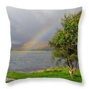 Kyle Of Lochalsh Scotland Throw Pillow