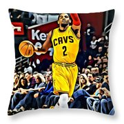 Kyrie Irving Throw Pillow by Florian Rodarte