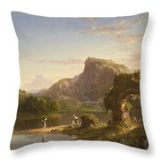 L Allegro Throw Pillow