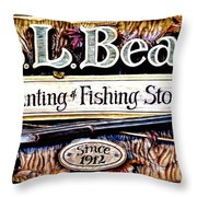 L. L. Bean Hunting And Fishing Store Since 1912 Throw Pillow