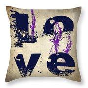 L O V E Crumbling Throw Pillow