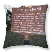 La-002 New Orleans Throw Pillow