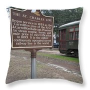 La-006 The St. Charles Line Throw Pillow
