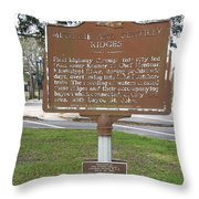 La-009 Metairie And Gentilly Ridges Throw Pillow
