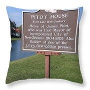 La-010 Pitot House Throw Pillow