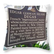 La-012 Edgar Germain Hilaire Degas Throw Pillow