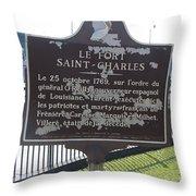 La-013 Le Fort Saint-charles Throw Pillow