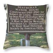 La-019 Destrehan Manor House Throw Pillow
