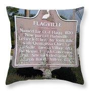 La-021 Flagville Throw Pillow