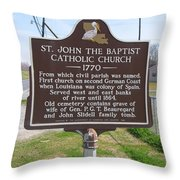 La-024 St John The Baptist Catholic Church 1770 Throw Pillow