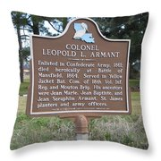 La-026 Colonel Leopold L. Armant Throw Pillow
