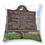 La-027 Le Petit Versailles Throw Pillow