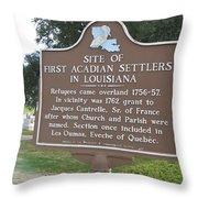 La-029 Site Of First Acadian Settlers In Louisiana Throw Pillow