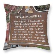 La-032 Donaldsonville Throw Pillow