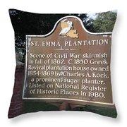 La-034 St. Emma Plantation Throw Pillow