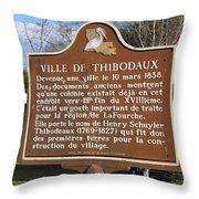 La-036 Ville De Thibodaux Throw Pillow