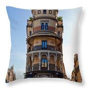 La Adriatica Building, Seville Throw Pillow