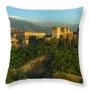 La Alhambra Palace Throw Pillow