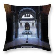 La Alhambra Patio De Los Leones Throw Pillow