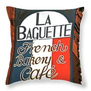 La Baguette Throw Pillow