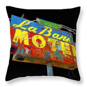 La Bank Motel - Black Throw Pillow