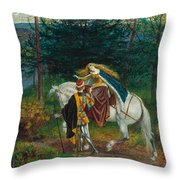 La Bella Dame Sans Merci Throw Pillow