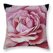La Bella Rosa Throw Pillow