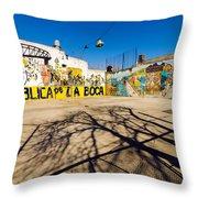 La Boca Graffiti Throw Pillow