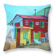 La Boca Morning I Throw Pillow