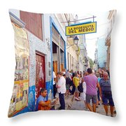 La Bodeguita Del Medio Throw Pillow